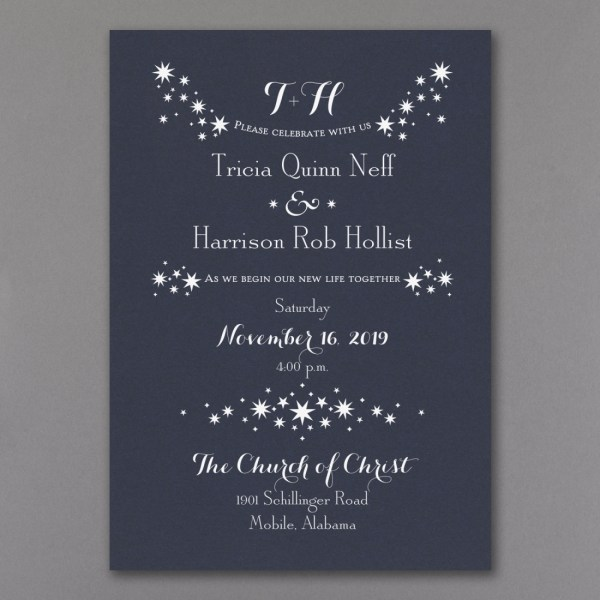 Star Wedding Invitations Archives Persnickety Invitation Studio