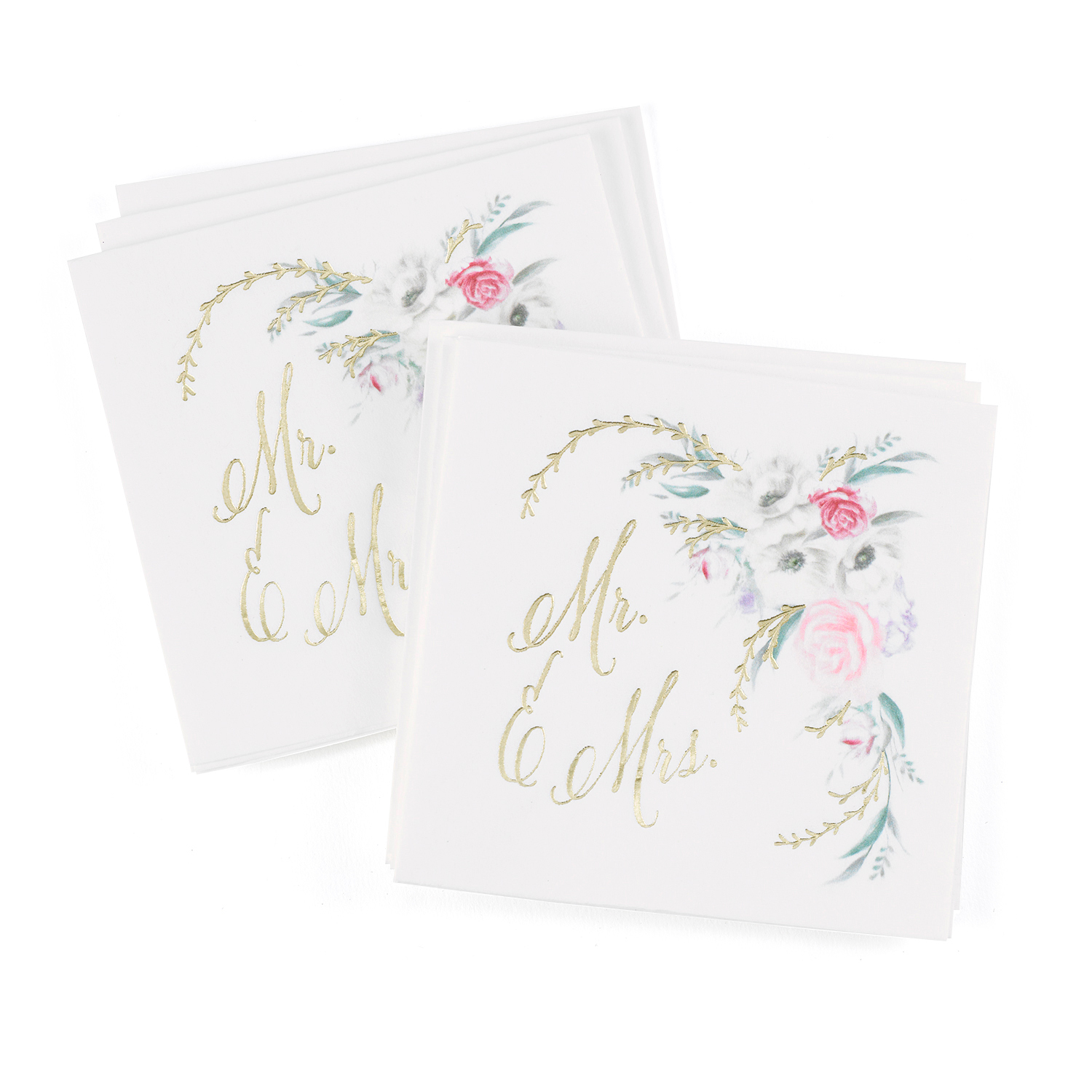 ethereal floral watercolor wedding napkins