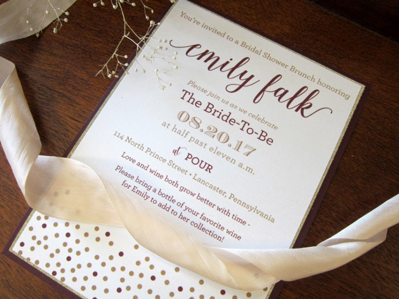 mulberry bridal shower invitation