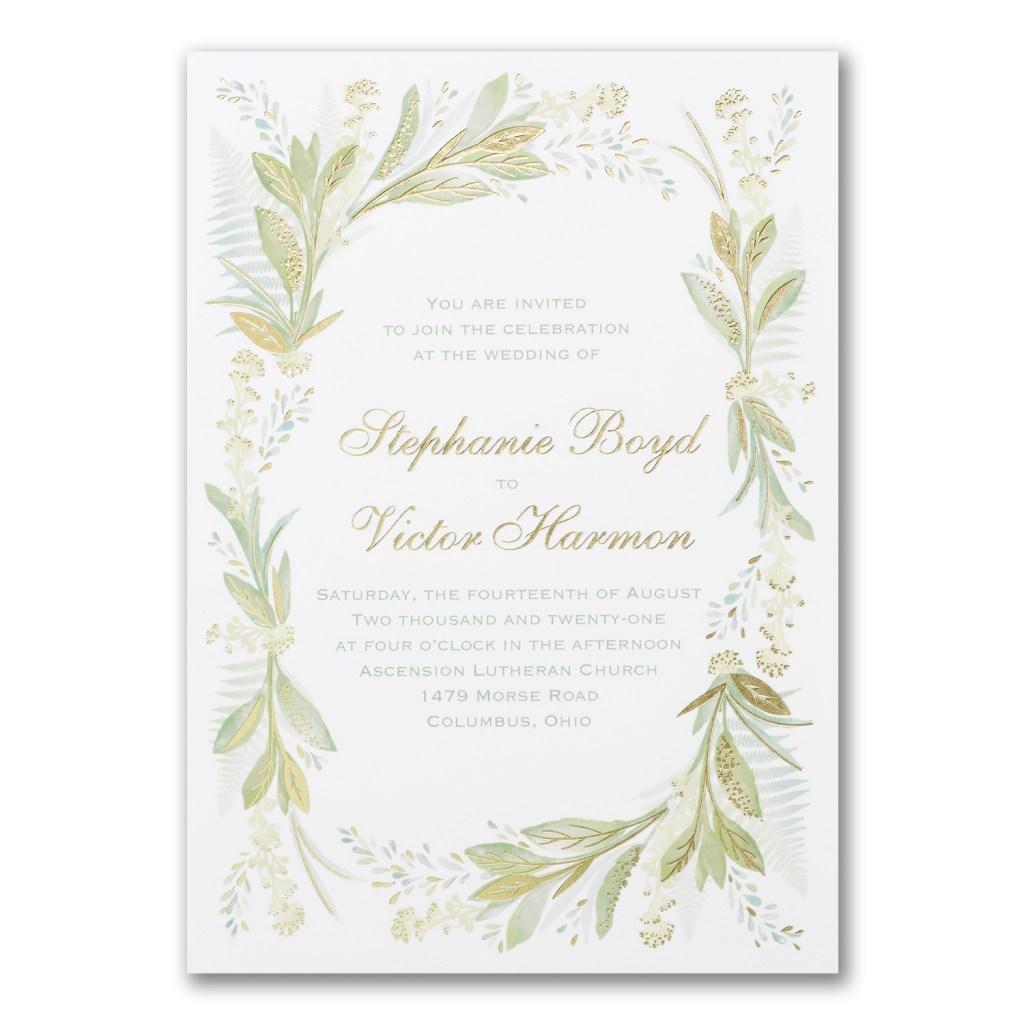 floral love invitation