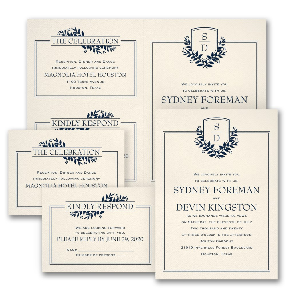 formal romance wedding invitation budget friendly
