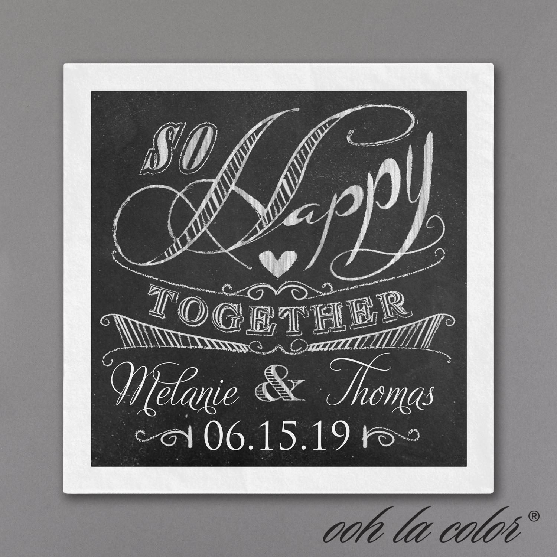 chalkboard wedding napkin