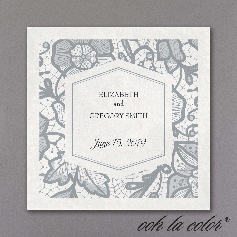 lace floral cocktail napkin