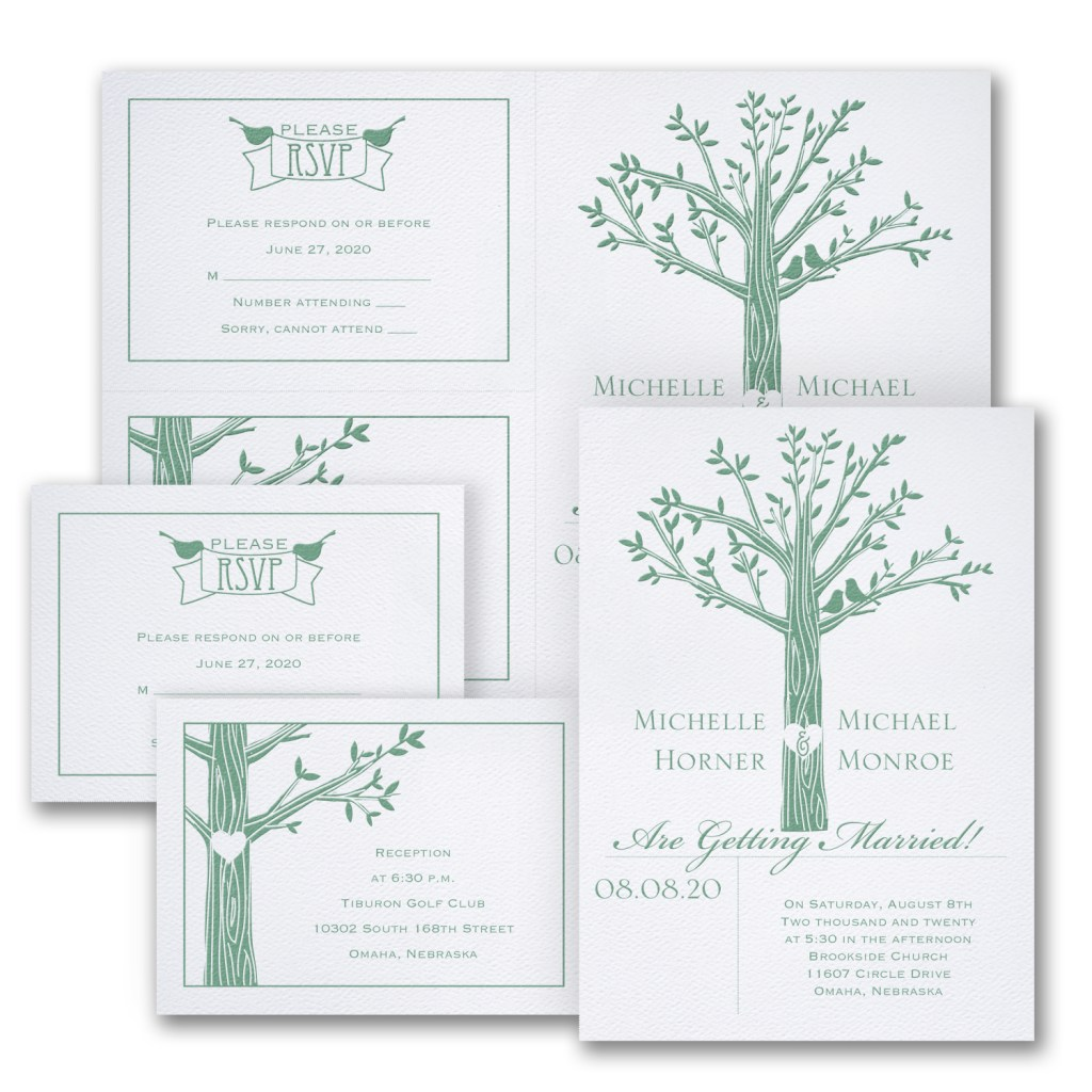 love naturally wedding invitation budget friendly