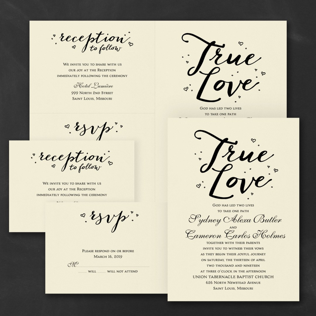 watercolor typography wedding invitation budget friendly