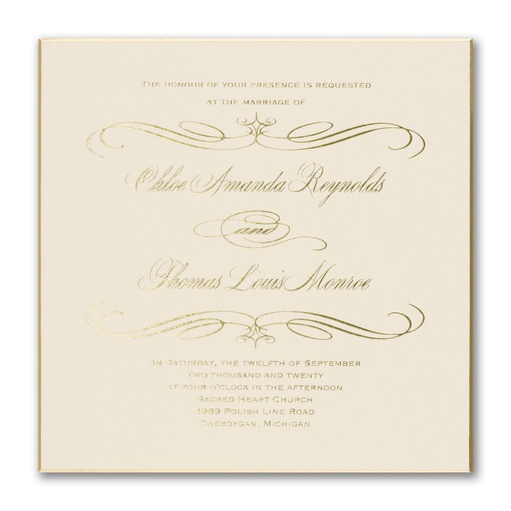 square foil invitation