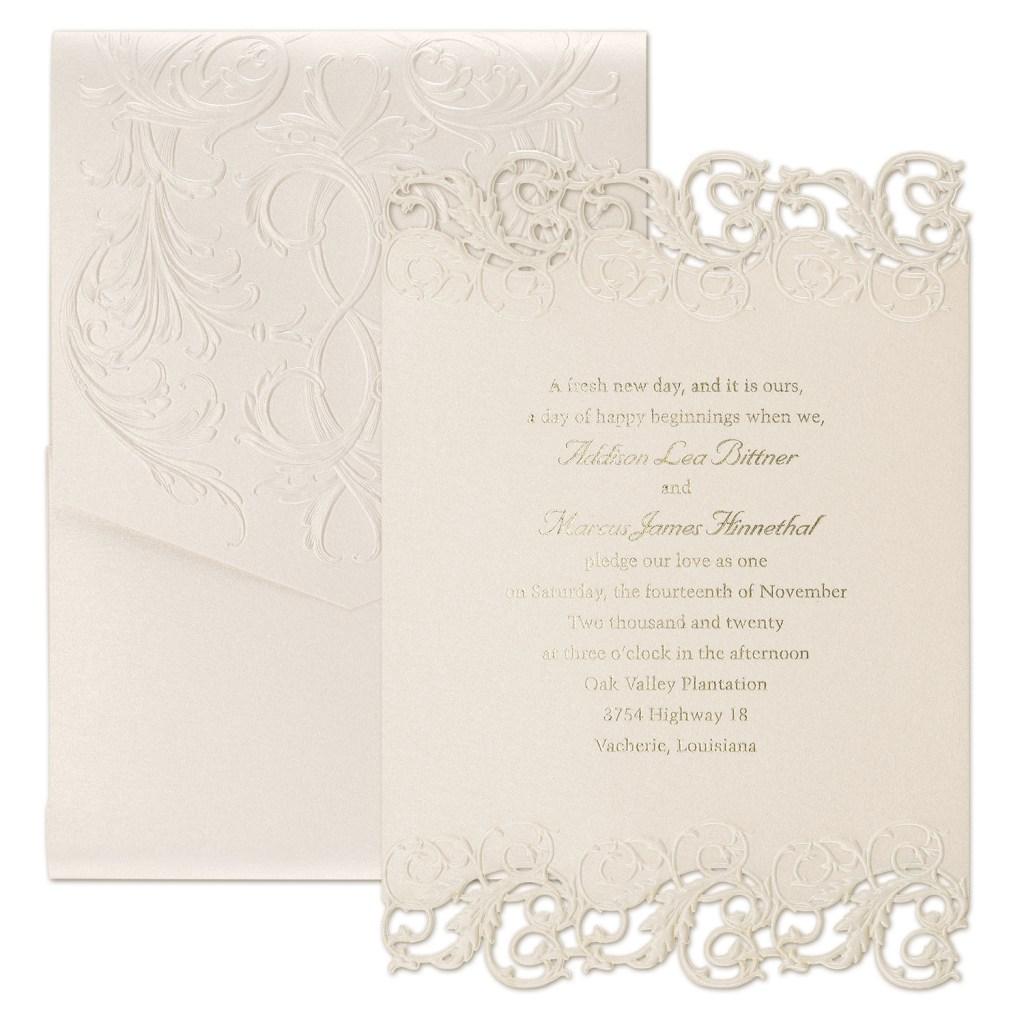 laser cut and foil invitation