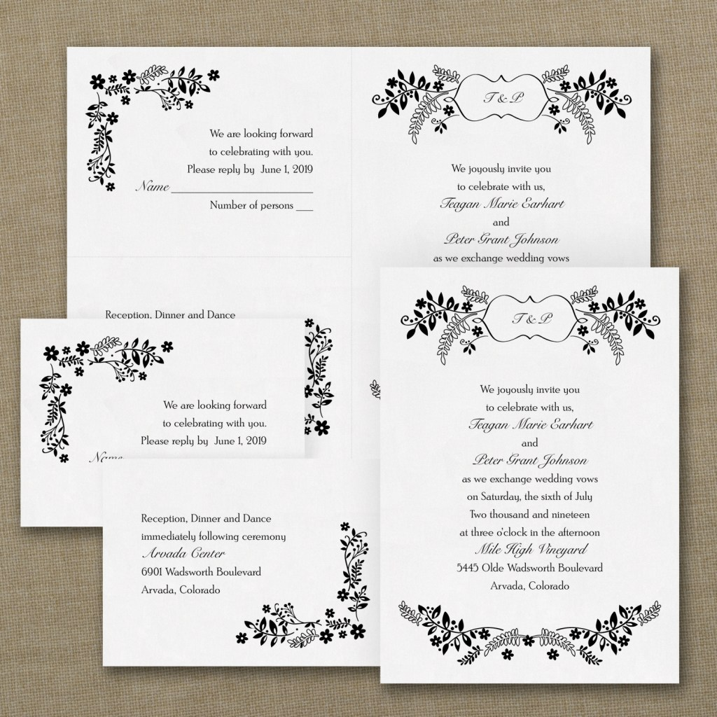 flower wedding invitation budget friendly