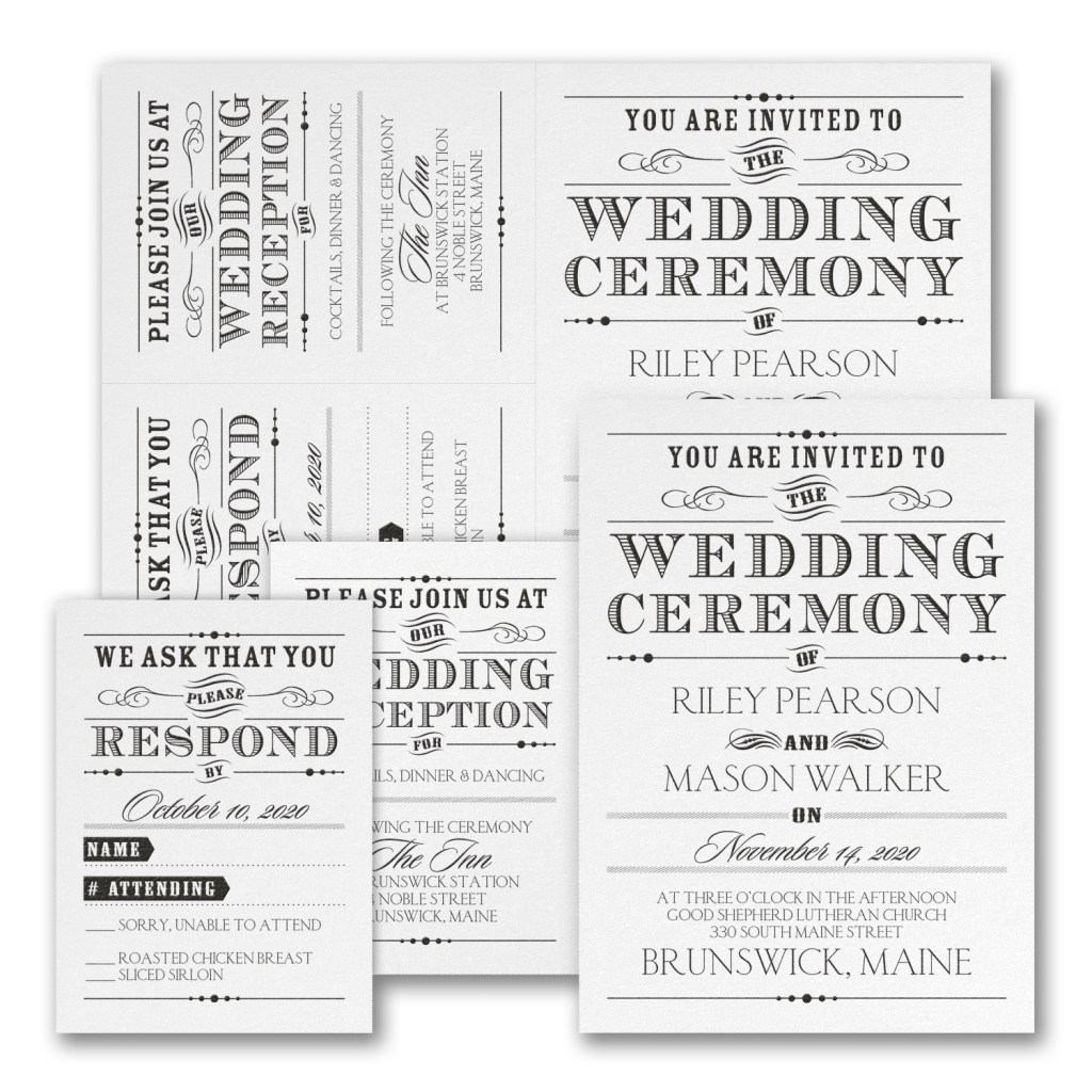 vintage nuptial wedding invitation budget friendly