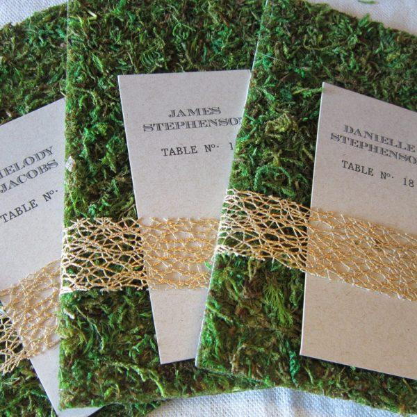 woodland wedding place cards