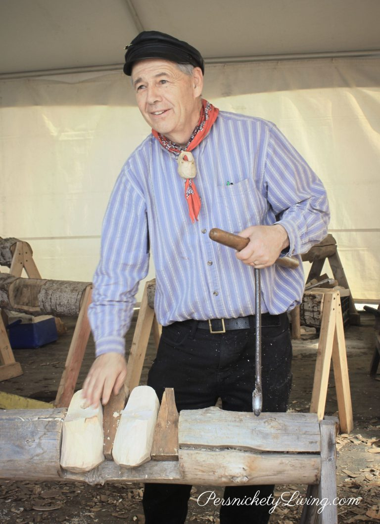 Wooden Shoe Making Demonstration Portland Tulip Festival