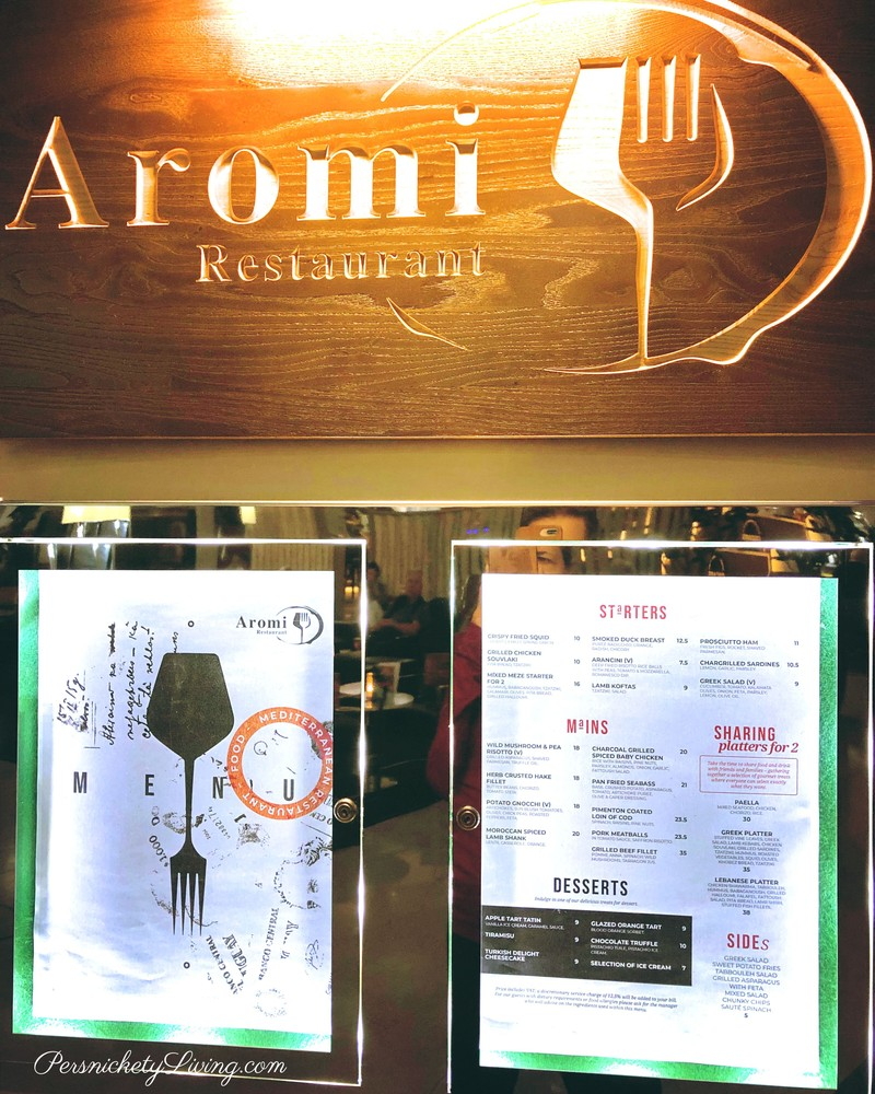 Aromi Menu Hilton Heathrow