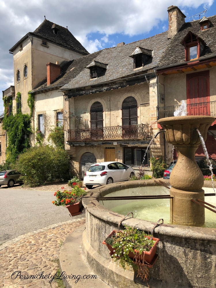 Fountain in Najac Village France