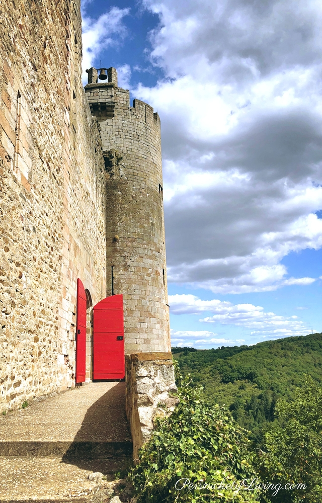 Najac Fortress Red Door