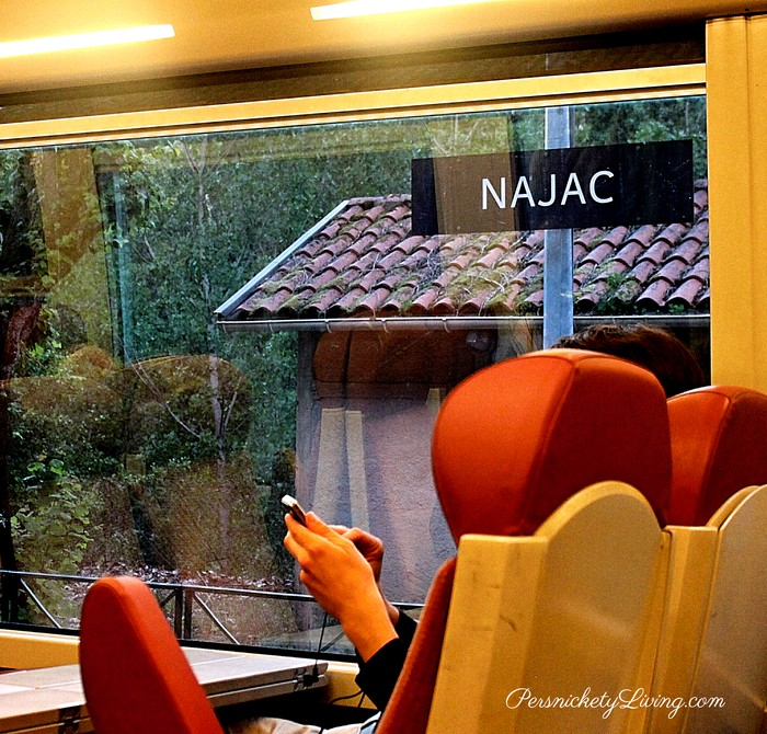 View of Najac train station from the train
