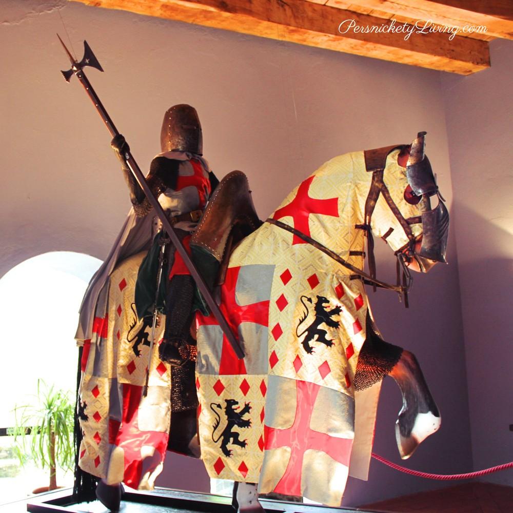 Templar Knight on horseback