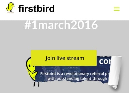 Zum Produkt Launch von Firstbird ein Livestream via Google