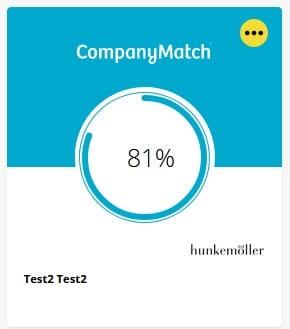 CompanyMatch Screenshot Match Hunkemoller 2. Runde