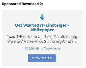 Screenshot Sponsored Download Sidebar Startseite Portal