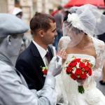живі статуї на весілля