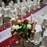 червона доріжка на весілля
