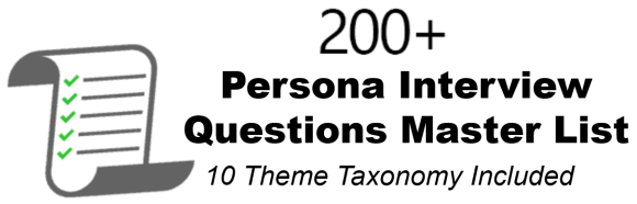 Helping Professionals Select Persona Interview Questions Using Natural Language Processing