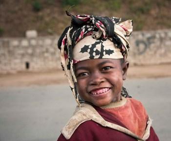 Street girl in Madagascar