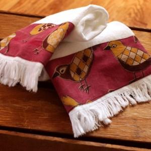 Bird Kitchen Towels Fringed