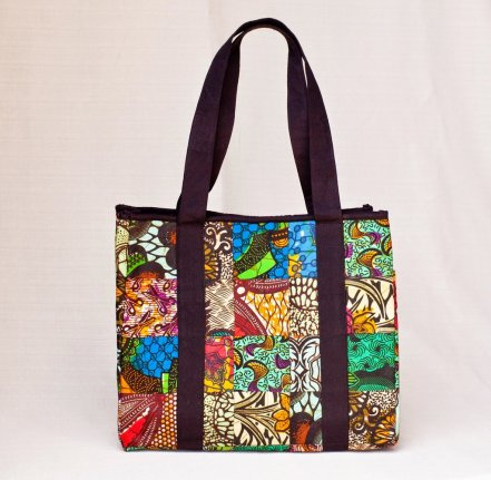Colorful African Tote Purse Fairtrade
