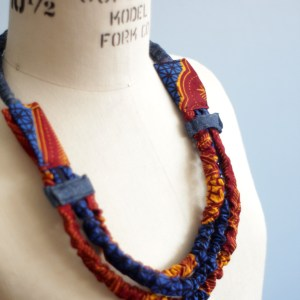 3 strand African necklace