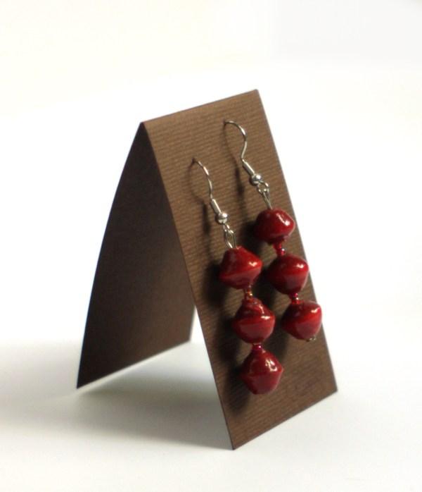 Red Ugandan Beaded Jewelry