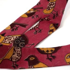 India Pink Bird Head Tie