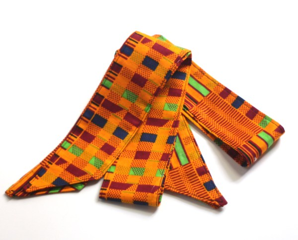 Orange Kente Head Tie