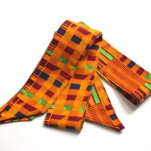 Orange Kente Head Tie