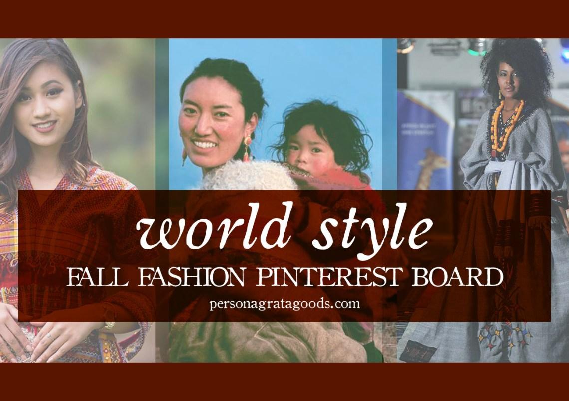 world style ethiopian african syrian fashion board