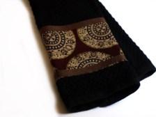 Black cotton fair trade kitchen towel