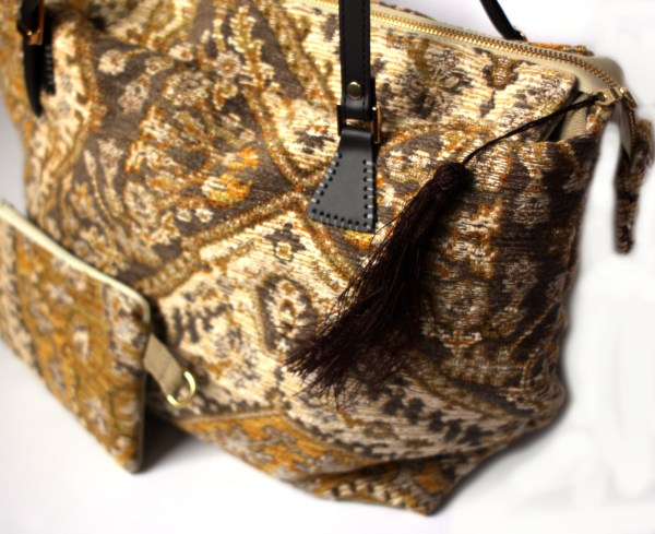 Yellow Tapestry Carpet Bag