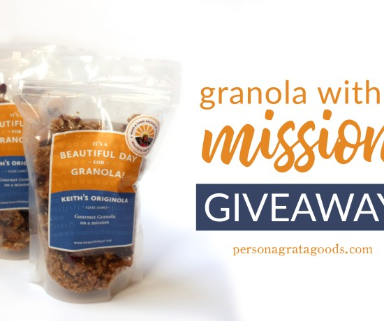 Fair Trade granola giveaway