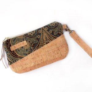 Cork Carpet Bag Tapestry Wallet