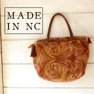 Rose Gold Tapestry Purse Made in NC