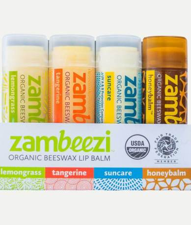 Zambeei Lip balm Fair trade