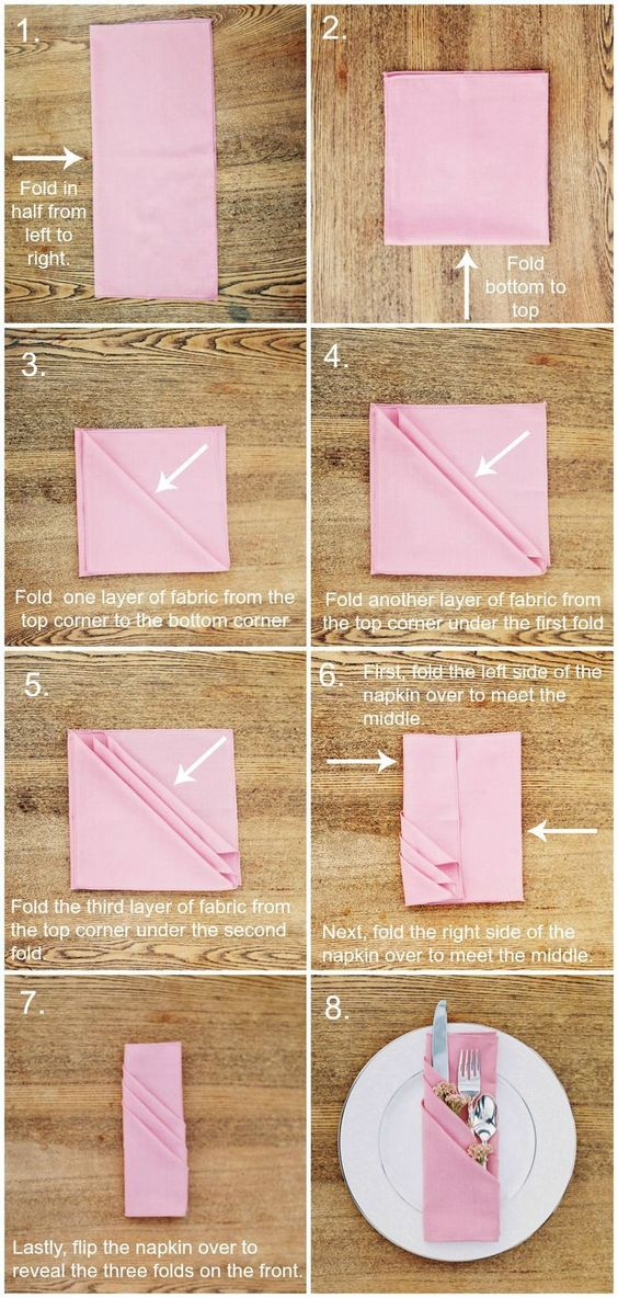 Three Layer Napkin Fold