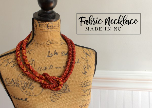 African Fabric Knot Necklace