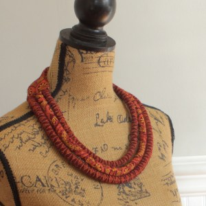 African Shweshwe necklace