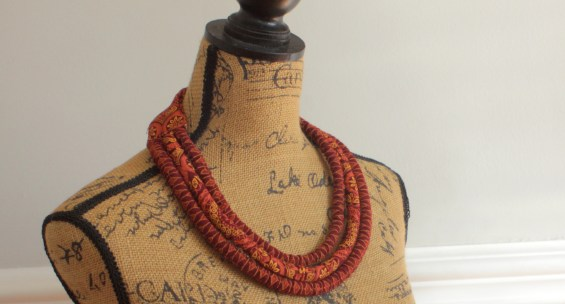 African Shweshwe necklace