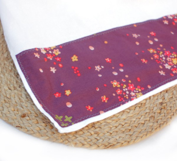 Huck Weave Plum Cotton Towel