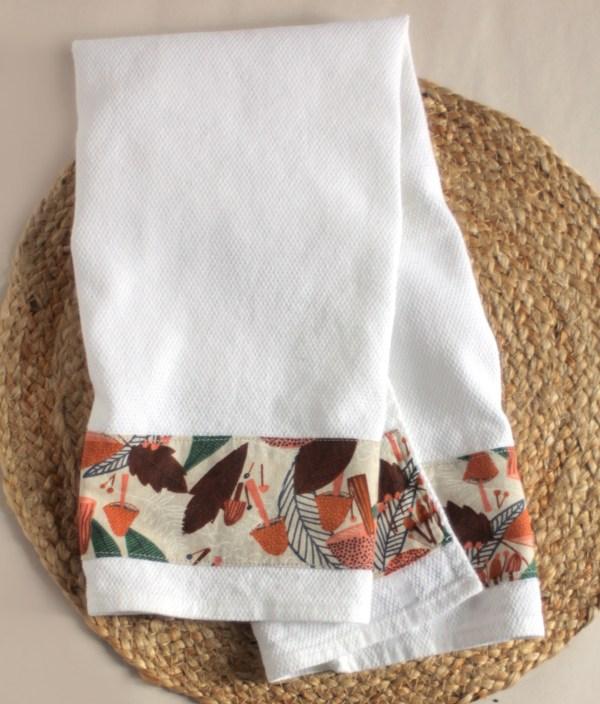 Foodie Mushroom Kitchen Tea Towel