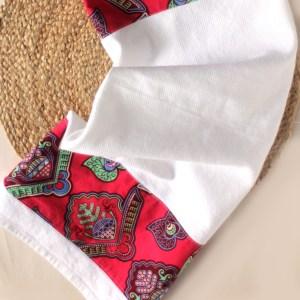 Pink African Print Towel