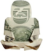 Folded Money Buddha