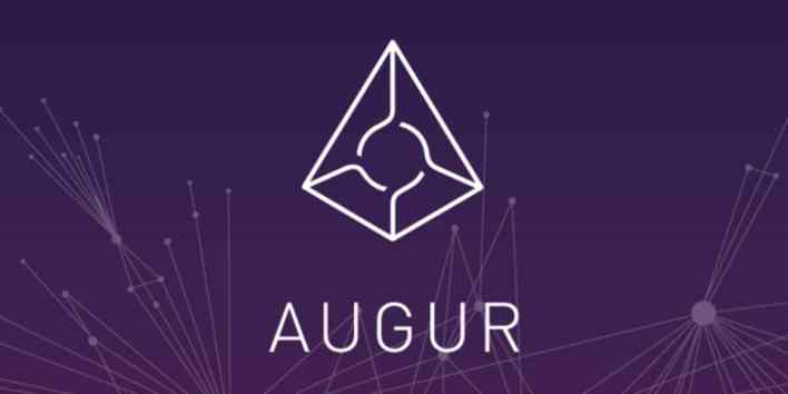 Logo of Augur (REP), decentralized betting project
